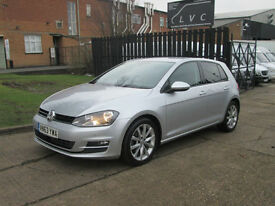 2014 Volkswagen Golf 2.0 GT TDI 150ps MK7. SATNAV + FULL BLACK + HEATED LEATHER.