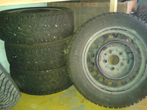 4 Winter Tires and Rims Prince George British Columbia image 1
