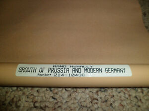 Roll Down Wall Map (Growth of Prussia and Modern Germany) Kitchener / Waterloo Kitchener Area image 3