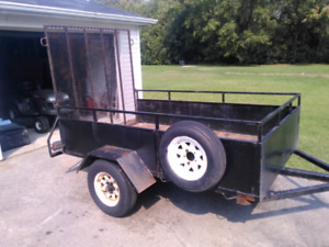 4x8 utility trailer with ramp