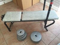 £45 Weight bench and weights