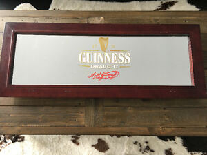 Guinness mirror- bar decor