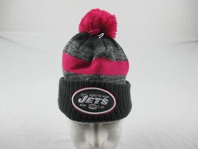New York Jets New Era Hat Men's Gray/Pink Winter Hat New Siz