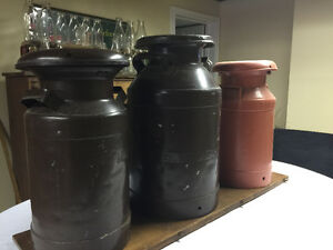 Old milk cans