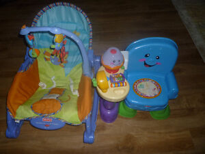 Chaise vibrant et musical Fisher price