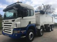 2006 06 Scania P380 sleeper cab, 8x4, alloy insulated tipper, weigher, sheet