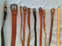 Bundle of 9 ladies belts
