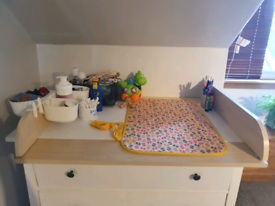 FREE baby changing table topper plus accessories