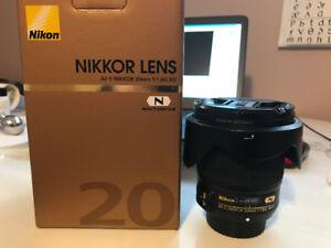 NIkon 20 1.8G lens