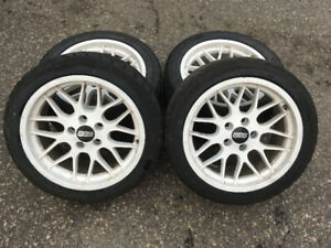 BBS wheels 17x8 5x114.3 WITH TIRES