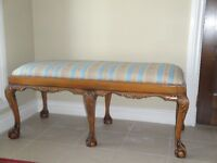 Large French Style beautifully carved Bench