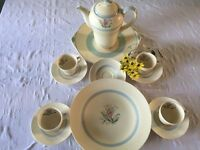 New hall Hanley- staffs antique coffee pot and cups