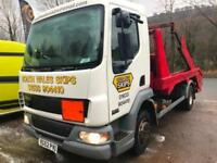 2002 52 DAF TRUCKS FA LF45.150 HYDRAULIC SKIP LORRY / EXPORT AVAILABLE
