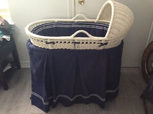 Pottery Barn Bassinet with skirt and bumper