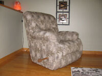 Fauteuil  1 Place LazyBoy  bercant et inclinable.