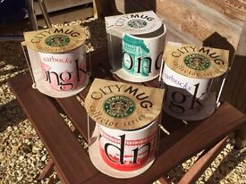 4 x Starbucks City mugs ( Collectibles )