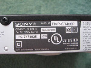 Sony DVD Player DVP-SR400P w Remote Used Good Condition West Island Greater Montréal image 5