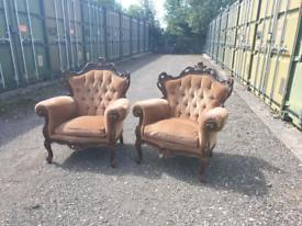 Antique Italian armchairs