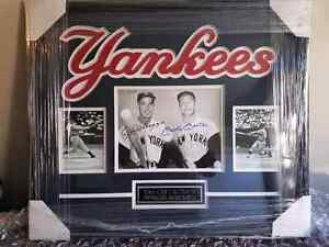 Joe Dimaggio and Micky Mantle autographed picture  St. John's Newfoundland image 1