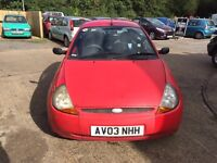 Ford KA 1.3 low millage only 60K 1 year MOT drives excellent