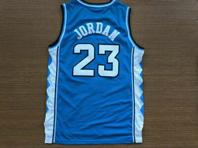 Michael Jordan 23 NORTH CAROLINA TARHEELS Basketball Jersey Blue white and black