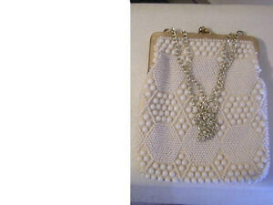 Beautiful Antique Beaded Cluch PursesWhite, Black, Blue London Ontario image 7