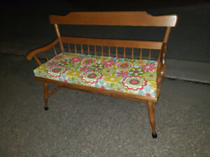 Ethan Allen vintage early American bench