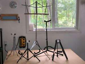 Music and guitar stands in excellent condition at a good price !