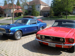 1967 or 1968 Ford Mustang parts - Some New