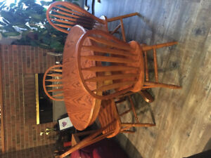 Real Oak Table with 4 chairs