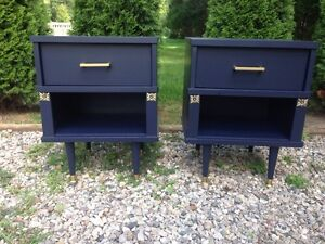 Night stands : navy & gold  London Ontario image 1