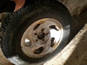 4 steel rims and 3 toyo open country GO2 Plus tires