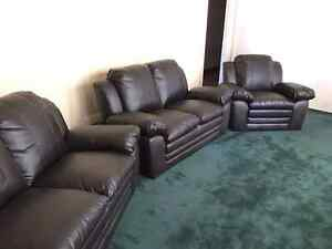 Brown Leather Sofa Set. Brand New in box. Only $999. Delivery.