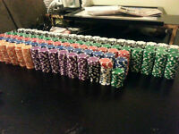 2000 Poker Chips. Perfect for Rec Center or Community Hall