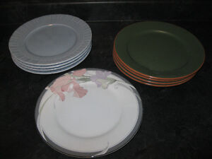 """3 SETS of 4 10.5"""" DINNER PLATES - QUALITY PLATES PRICED TO GO!!"""