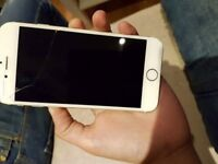 iPhone 6 Gold little cracked screen, working condition perfect.