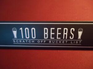 100 Beers Scratch Off Bucket List Poster