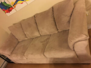 Microfiber couch (like new)