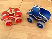 2 toy car vehicles