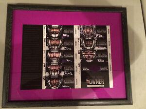 Minnesota Vikings 2013 Framed Ticket Stubs Final Season Metrodom