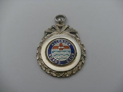 Solid Silver Albert Chain Fob Medal London 1957 Cycling