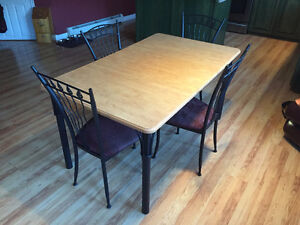 Table and Chair Set, plus Bar Stools