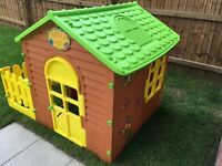 Children's Garden Playhouse & Fence