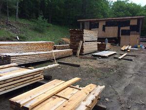 Cedar decking, trim, custom milling