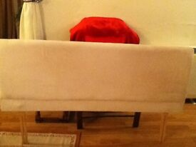 5ft Cream Faux Suede Headboard, Lovely!