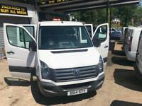 2014 14 VOLKSWAGEN CRAFTER CREW CAB XLWB DROPSIDE / LOW MILES