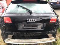 Audi A3 tailgate black 2008