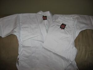 Two Youth's Karate Gi Martial Arts White Suit