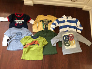 Bundle of 7 baby shirts for 3 year olds