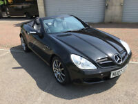 2007 Mercedes-Benz SLK200 Kompressor 1.8 Edition 10 Jet Black Convertible Cabrio